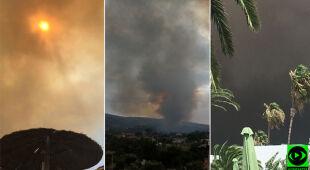 """""""Myśleliśmy, że wybuchł wulkan"""", """"non stop latają helikoptery"""". Relacje Polaków z Grecji"""