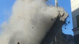 Incydent przy wyburzaniu budynku