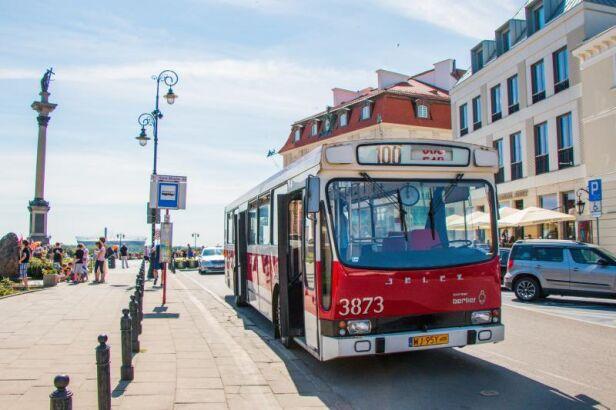 Linia 100 w ramach Warszawskich Linii Turystycznych Zarząd Transportu Miejskiego