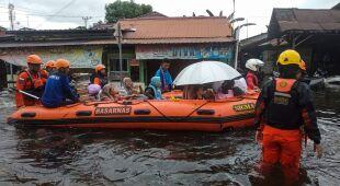 Powodzie na indonezyjskiej wyspie Borneo