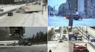 Obfite opady śniegu wywołały utrudnienia na Ukrainie