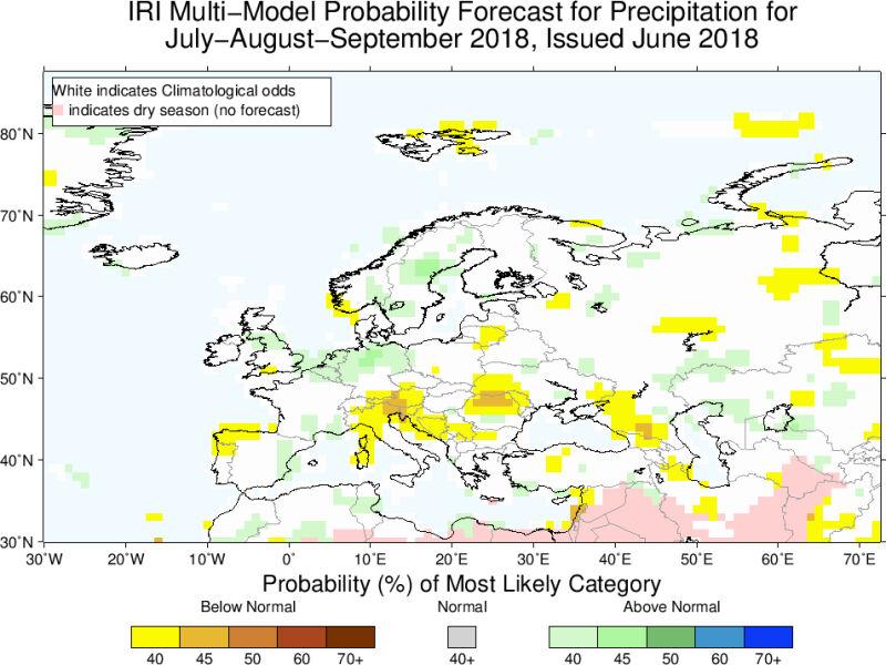Prawdopodobieństwo odchylenia od normy opadów (IRI)