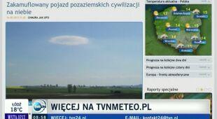 Zakamuflowany pojazd pozaziemskich cywilizacji na niebie (TVN24)