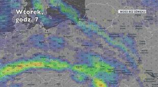 Prognozowane opady deszczu w ciągu pięciu dni (Ventusky.com)